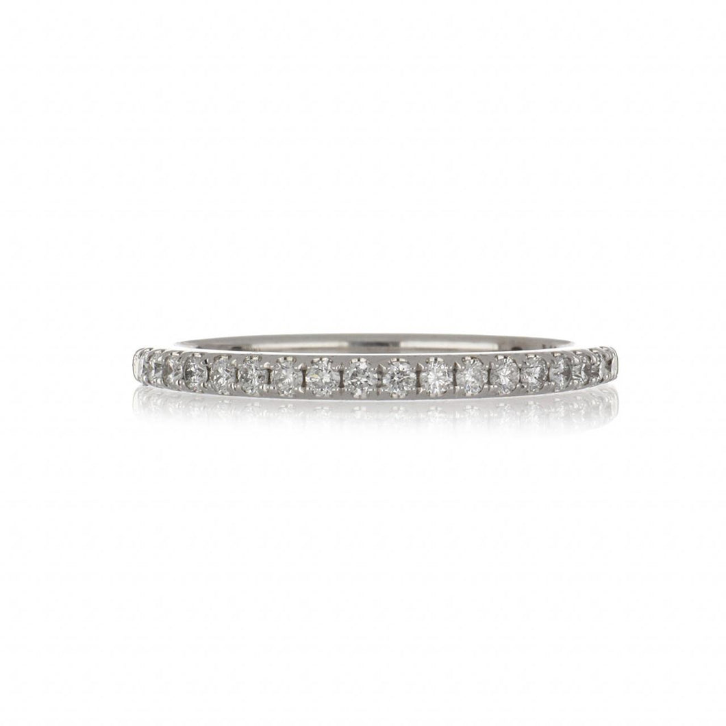 14K White Gold Pavé Diamond Band