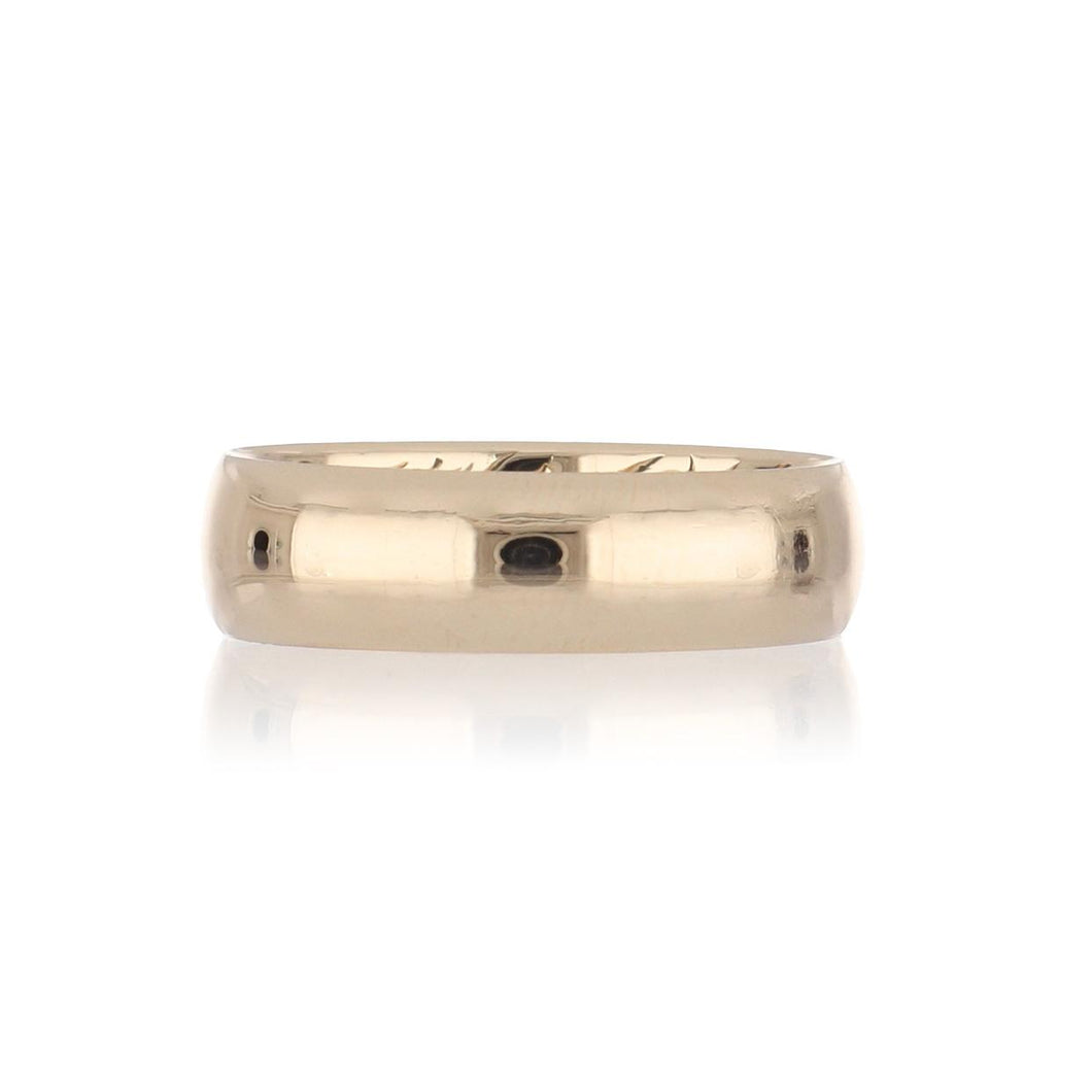 Estate 18K Gold Wide Band