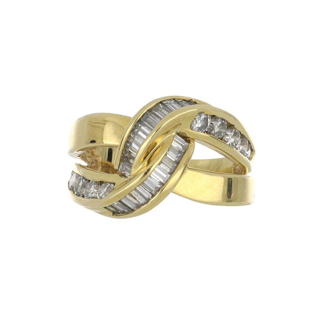 Estate 18K Gold Channel-Set Diamond Ring