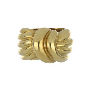 Estate 18K Gold Woven Knot Ring