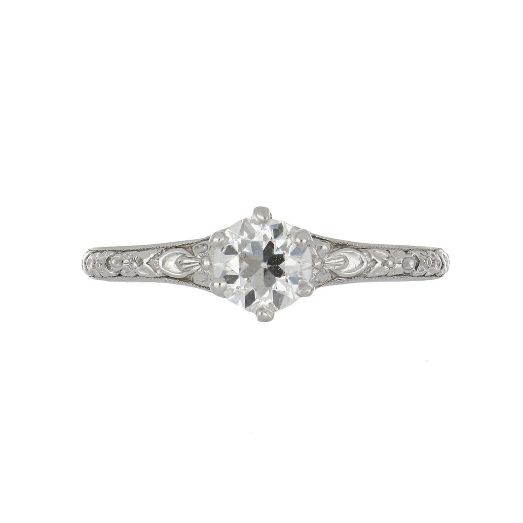 Edwardian Platinum Solitaire Diamond Ring