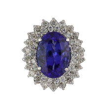 Load image into Gallery viewer, Estate 14K White Gold Tanzanite Ring with Diamonds