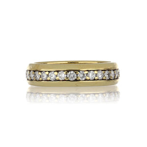 Estate 18K Gold Band with Diamonds