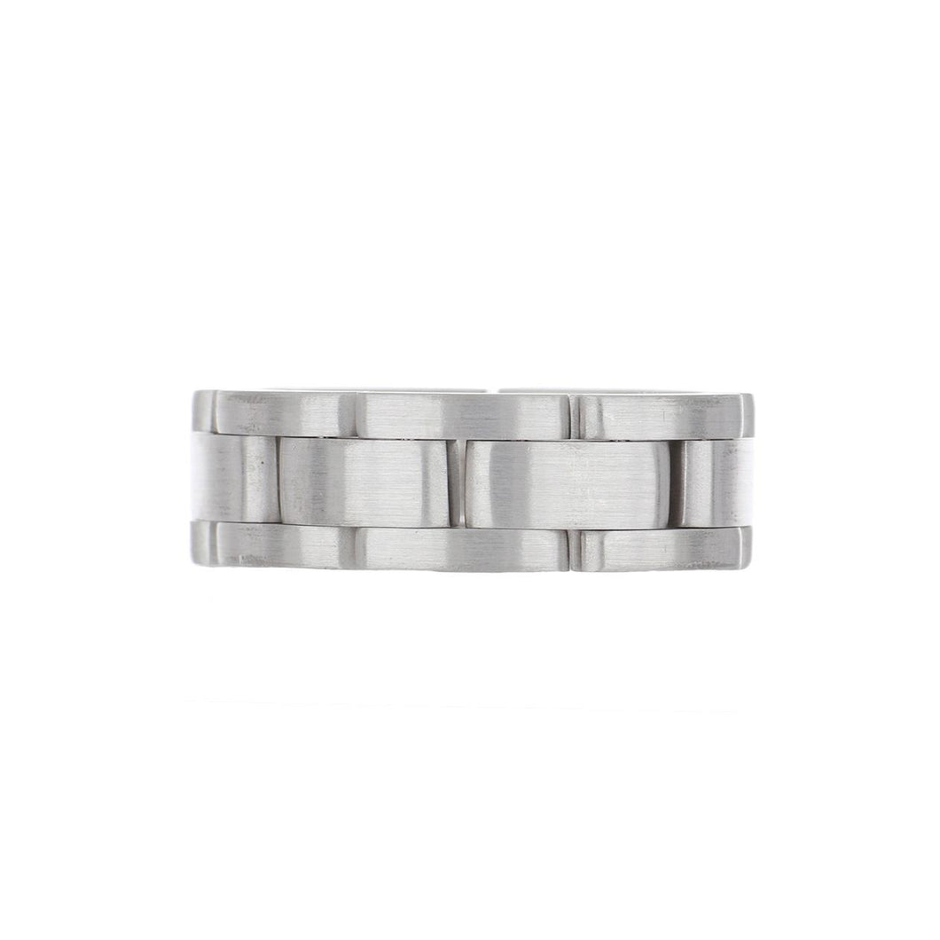 Estate 18K White Gold Link Band