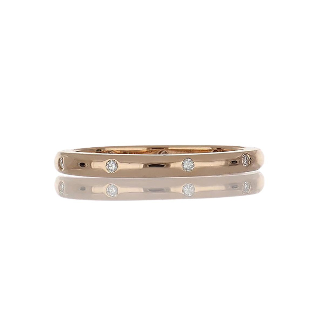 Hidalgo 18K Rose Gold and Diamond Band