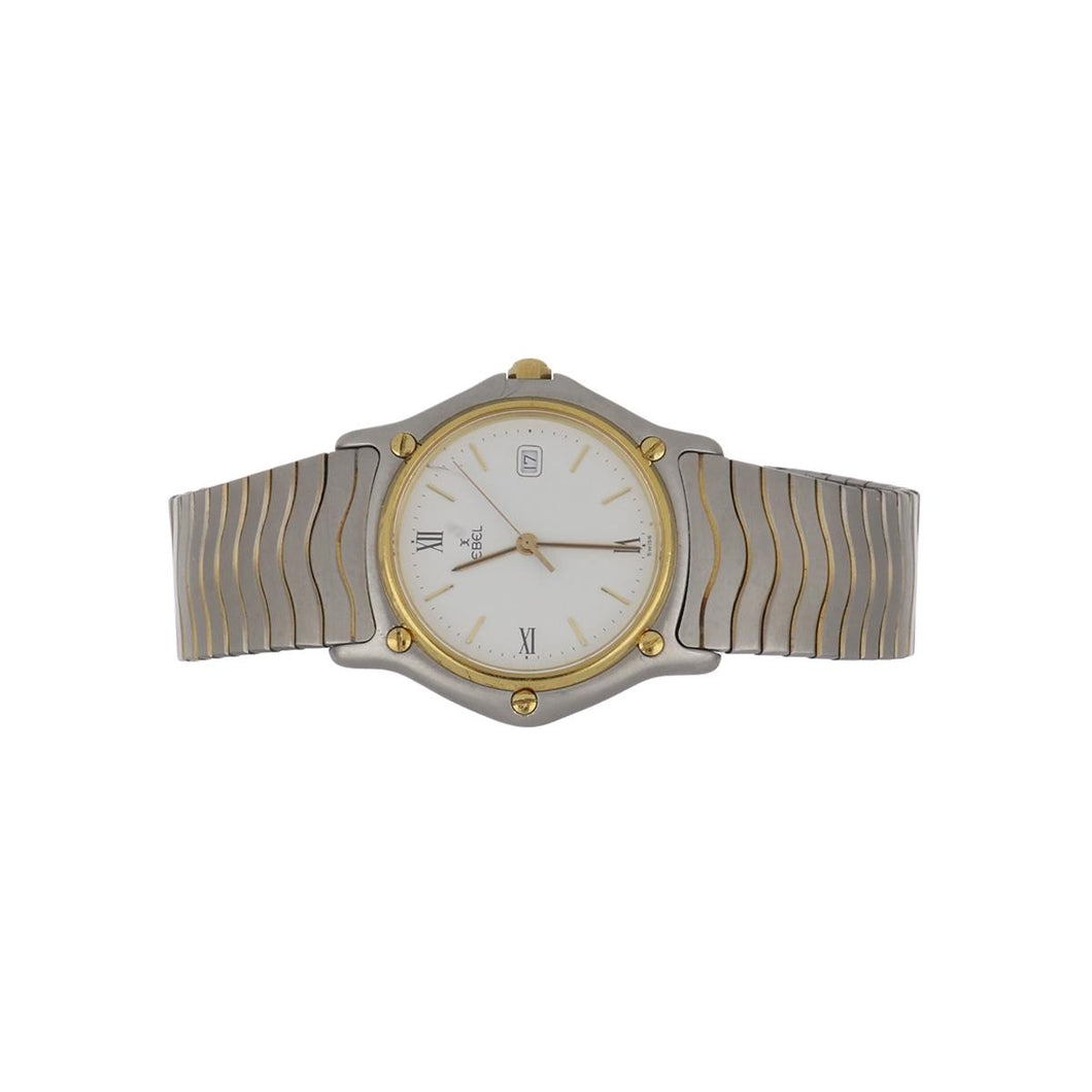 Ebel Stainless Steel and 18K Gold Wave Watch