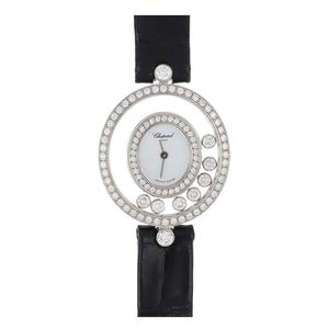 Chopard 18K White Gold Happy Diamonds Watch