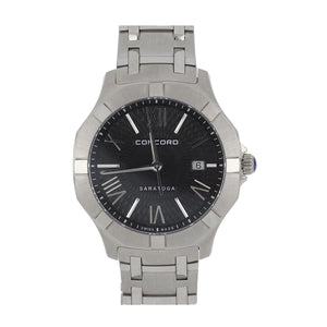 Concord Stainless Steel Saratoga Watch