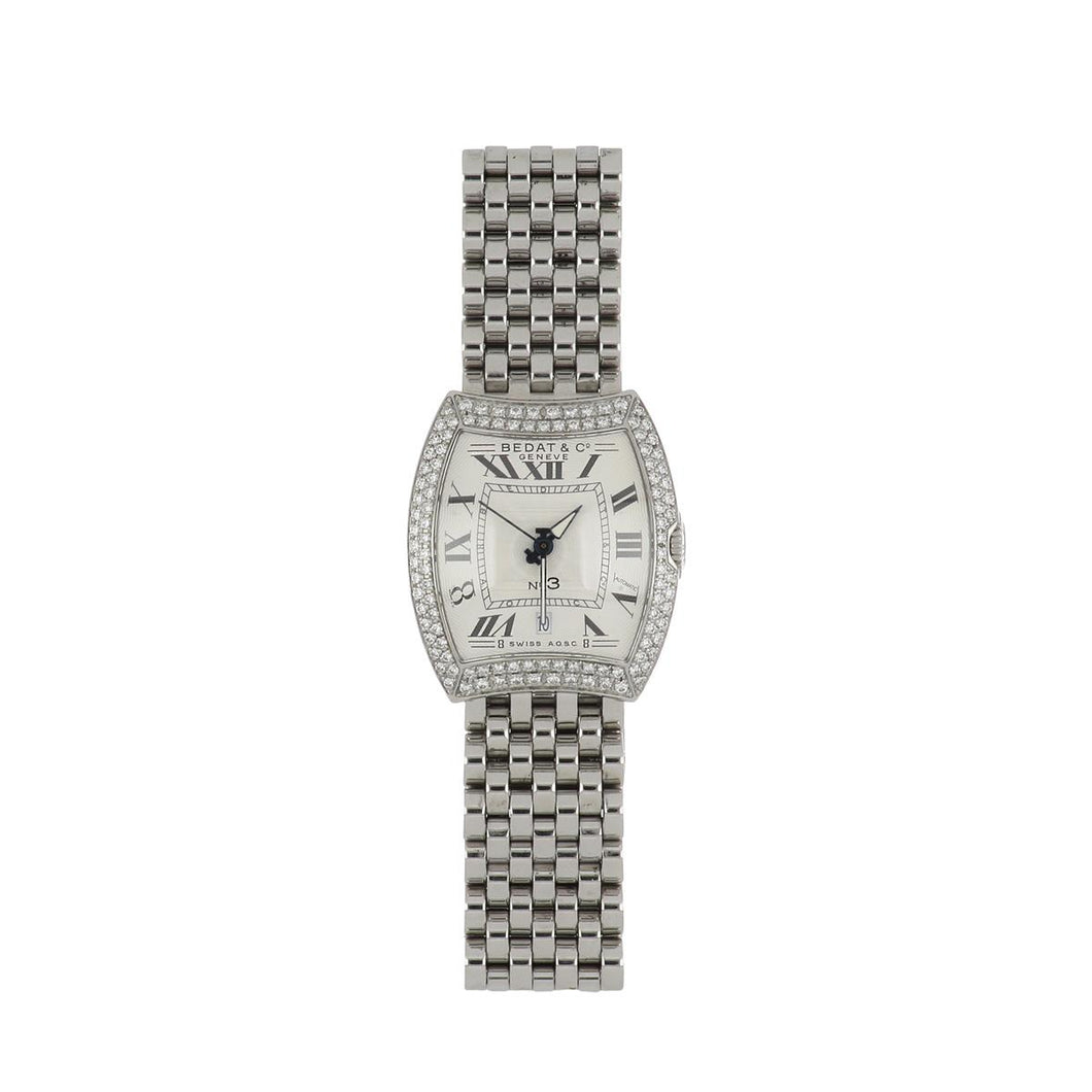 Bedat Stainless Steel No.3 Watch with Diamonds