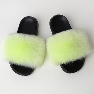 Hairy faux fur shoes summer new imitation fox fur