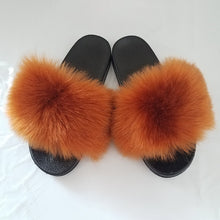 Load image into Gallery viewer, Hairy faux fur shoes summer new imitation fox fur