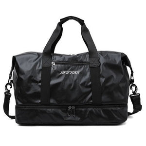 Glossy Gym Bag Dry Wet Travel Fitness Bag For Men Tas Handbags Women Nylon Luggage Bag With Shoes Pocket Traveling Sac De Sport