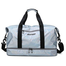 Load image into Gallery viewer, Glossy Gym Bag Dry Wet Travel Fitness Bag For Men Tas Handbags Women Nylon Luggage Bag With Shoes Pocket Traveling Sac De Sport