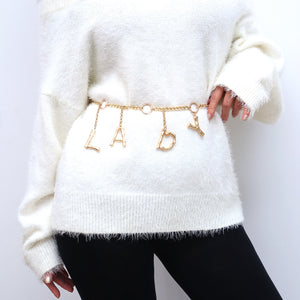 Retro Chain Belts For Women Waistbands All-Match