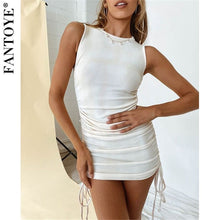 Load image into Gallery viewer, Sleeveless Elastic Mini Dress