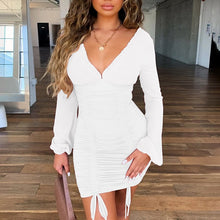 Load image into Gallery viewer, Sexy Long Sleeve Slim Elastic Bodycon Bandage Dress