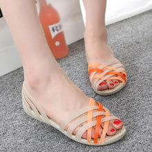 Load image into Gallery viewer, Jelly Shoes Women Clear Shoes Sandals transparent