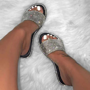 Summer Sandals Women Bling Slippers Ladies Crystal