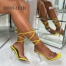 Load image into Gallery viewer, Pumps Ankle Cross Strap Sandals