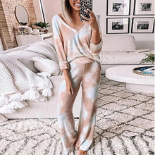 Load image into Gallery viewer, Pink Loose Tracksuits Lounge Wear Women Casual Two Piece Set Autumn Street t-shirt Tops and Jogger Home Suit 2pcs Outfits