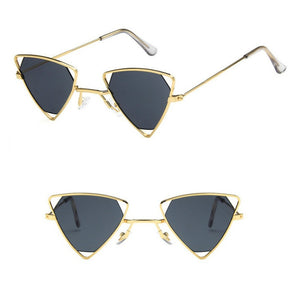 Yoovos  Punk Sunglasses Women Triangle