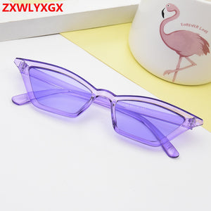 Cat eye sunglasses women brand design retro colorful