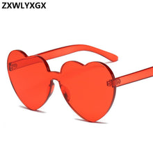 Load image into Gallery viewer, New Fashion cute sexy retro Love Heart Rimless Sunglasses Women Luxury Brand Designer Sun glasses Eyewear Candy Color UV400