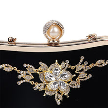 Load image into Gallery viewer, Female Diamond Pearl Handbag Vintage Crystal Flower Evening Bag Wedding Party Bride Clutch Bag Purse