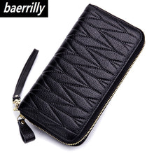 Load image into Gallery viewer, Wallet for Women Genuine Leather Female Travel Purse Zipper Women's Wallet 36 Card Holder мини кошелек жен