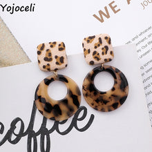 Load image into Gallery viewer, Sexy fashion leopard earrings women jewelry accessories Female circle earrings jewelry