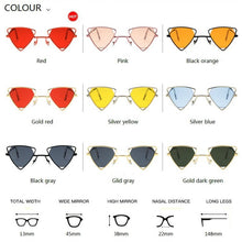 Load image into Gallery viewer, Yoovos  Punk Sunglasses Women Triangle