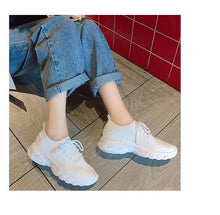 Load image into Gallery viewer, Small white shoes female summer flat with lace fly woven single shoes girls sports shoes thick breathable women's shoes