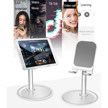 Load image into Gallery viewer, Universal Adjustable Desktop Cell Phone Holder for iPhone iPad Samsung Tablet Mobile Desk Mount Phone Holder Stand Support
