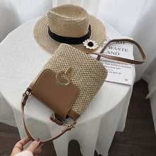 Load image into Gallery viewer, Small Straw Bucket Bags For Women 2020 Summer Crossbody Bags Lady Travel Purses and Handbags Female Shoulder Messenger Bag