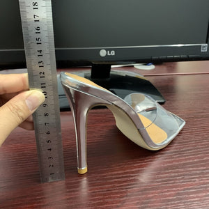 Sexy PVC Transparent slippers sandals summer fashion