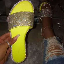 Load image into Gallery viewer, Summer Sandals Women Bling Slippers Ladies Crystal