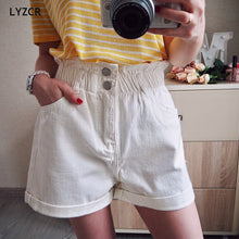 Load image into Gallery viewer, LYZCR Vintage Loose Denim Shorts Women Summer 2020 High