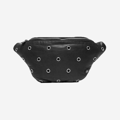 DEPECHE SILVER STUDDED EYELET BUMBAG
