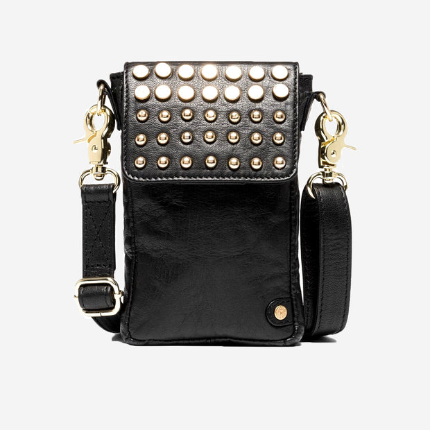 STUDDED MOBILE BAG