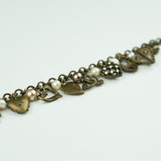 HEARTS AND PEARLS BRACELET