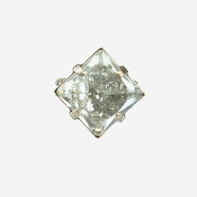 SINGLE SQUARE CRYSTAL DRESS RING