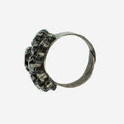 DIAMANTE DRESS RING - SMOKE GREY