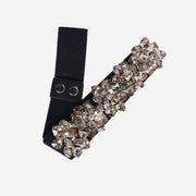 SMALL CHAMPAGNE CRYSTAL ELASTICATED BELT