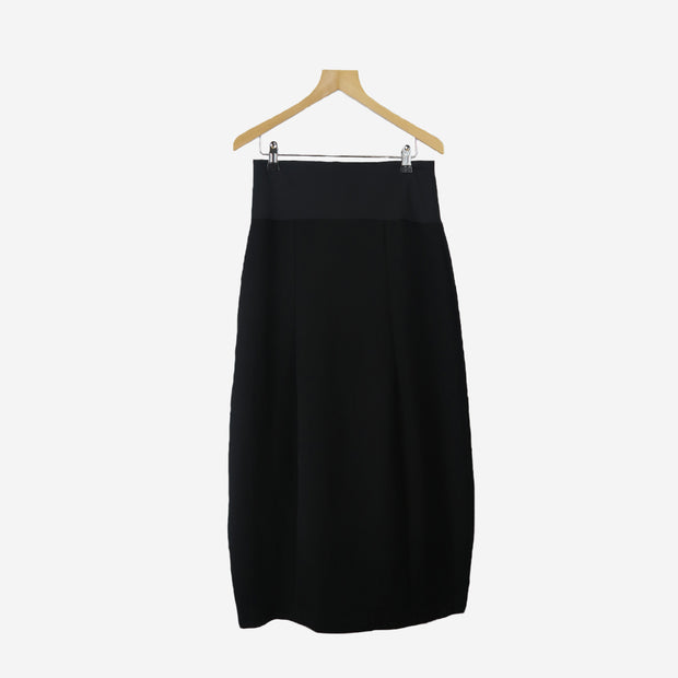 ROCK MIDI SKIRT WITH STRETCHY WAISTBAND