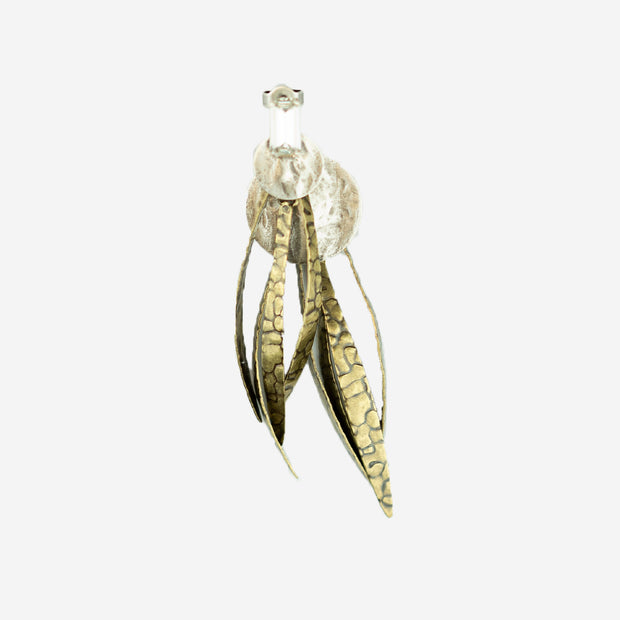 FEATHER DROP EARRINGS - GOLD