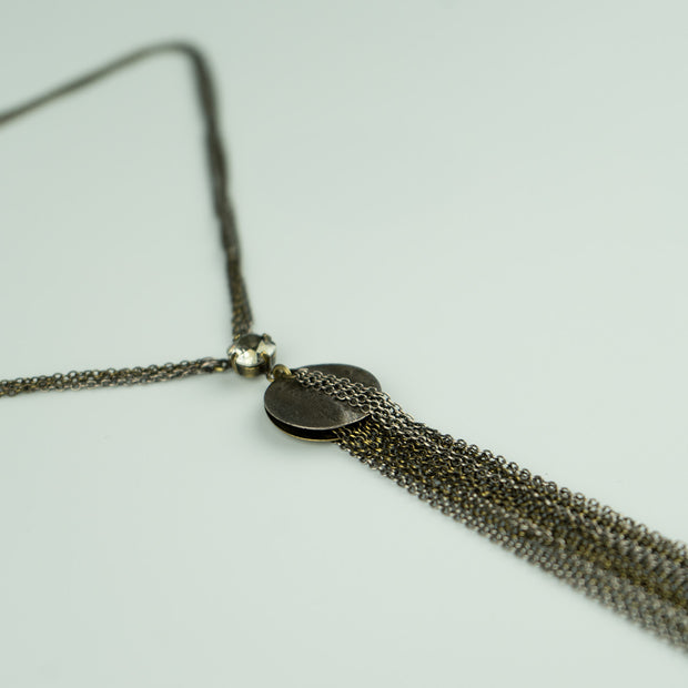 CHAINMAIL LONG DROP NECKLACE
