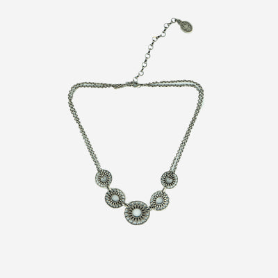 WHEELS OF TIME DIAMANTE BAR NECKLACE