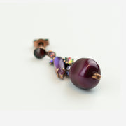 PLUM DROP EARRINGS
