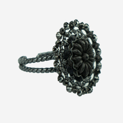 BLACK ORCHID DRESS RING