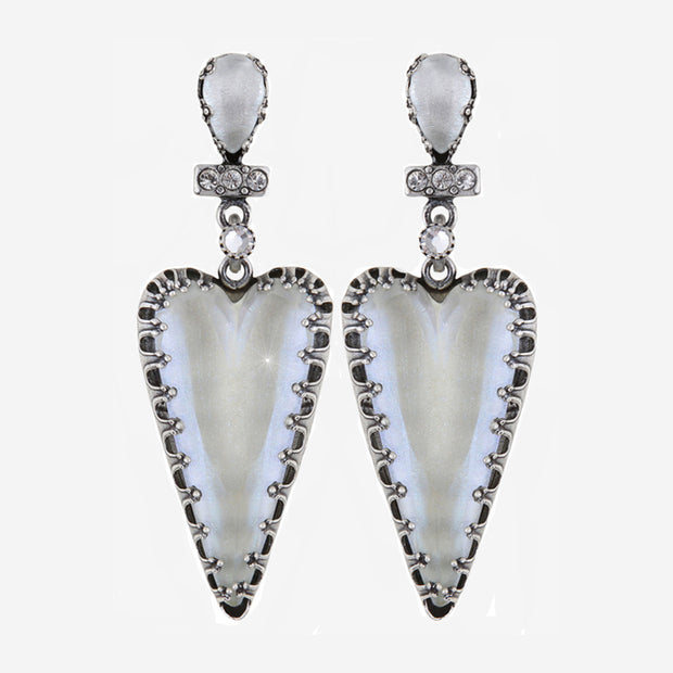 SNOW WHITE HEART EARRINGS